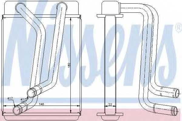 Радиатор отопления салона NISSENS 77508 - изображение