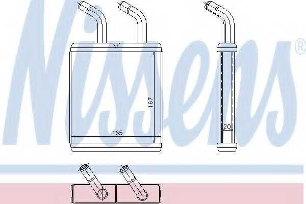 Радиатор отопления салона NISSENS 77514 - изображение