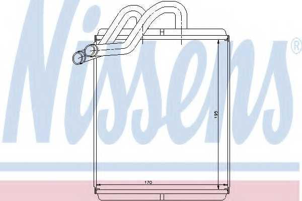 Радиатор отопления салона NISSENS 77518 - изображение