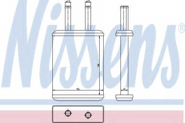 Радиатор отопления салона NISSENS 77524 - изображение