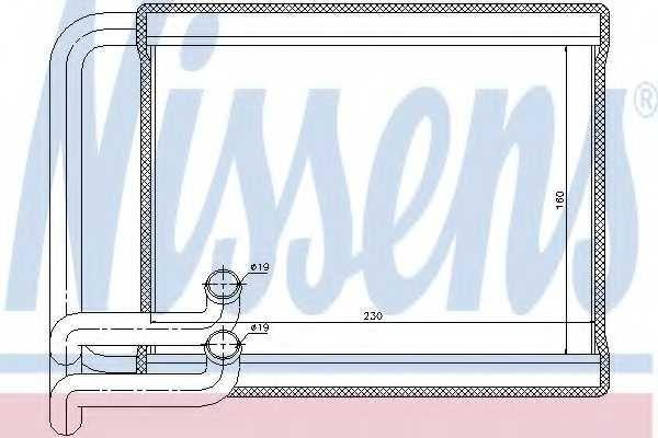Радиатор отопления салона NISSENS 77534 - изображение