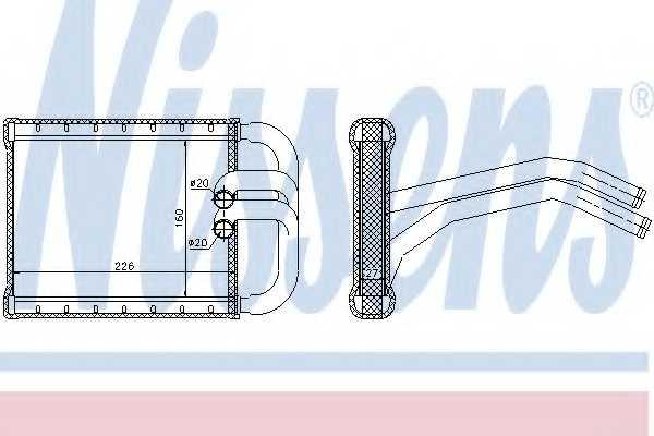 Радиатор отопления салона NISSENS 77535 - изображение