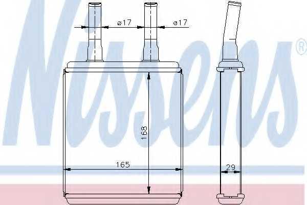 Радиатор отопления салона NISSENS 77604 - изображение