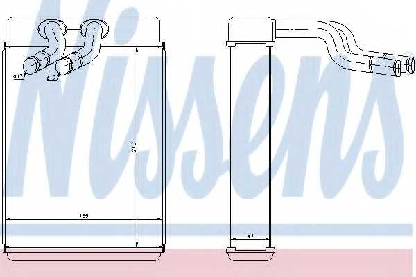 Радиатор отопления салона NISSENS 77610 - изображение