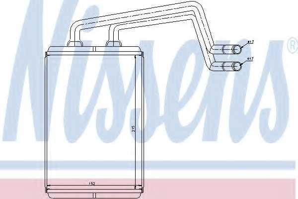 Радиатор отопления салона NISSENS 77612 - изображение