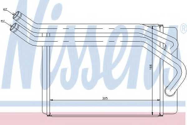 Радиатор отопления салона NISSENS 77614 - изображение
