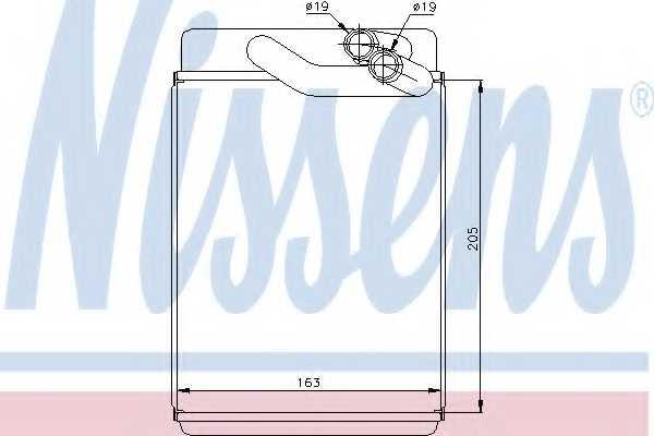 Радиатор отопления салона NISSENS 77616 - изображение