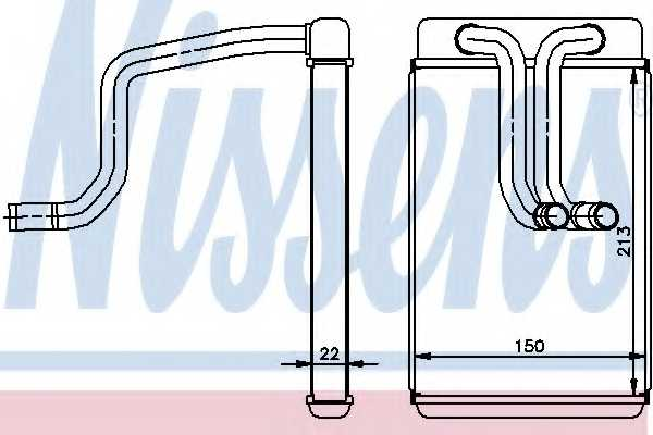 Радиатор отопления салона NISSENS 77620 - изображение