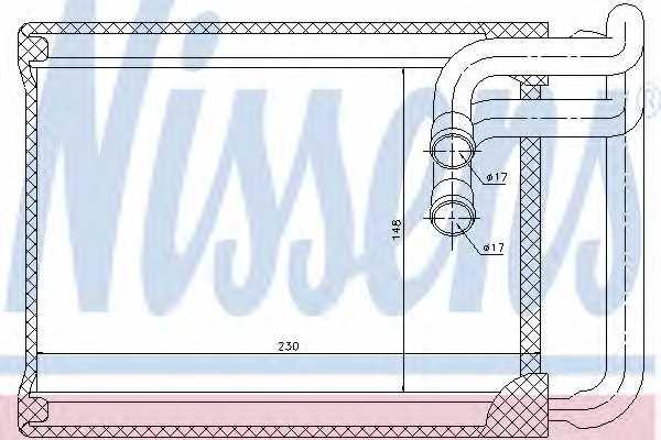 Радиатор отопления салона NISSENS 77622 - изображение