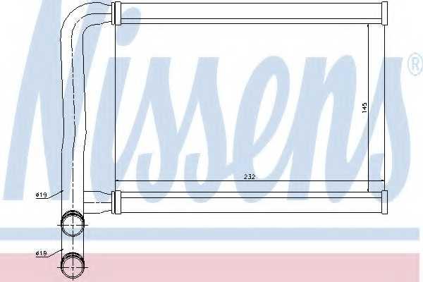 Радиатор отопления салона NISSENS 77631 - изображение