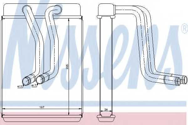 Радиатор отопления салона NISSENS 77634 - изображение