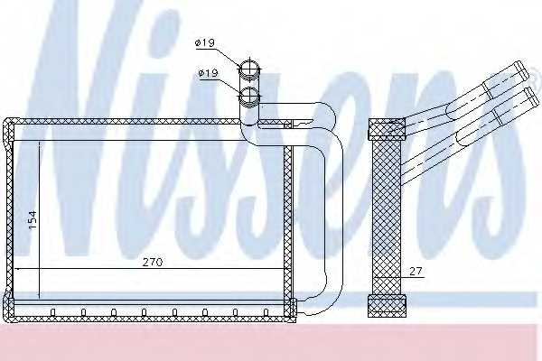 Радиатор отопления салона NISSENS 77635 - изображение