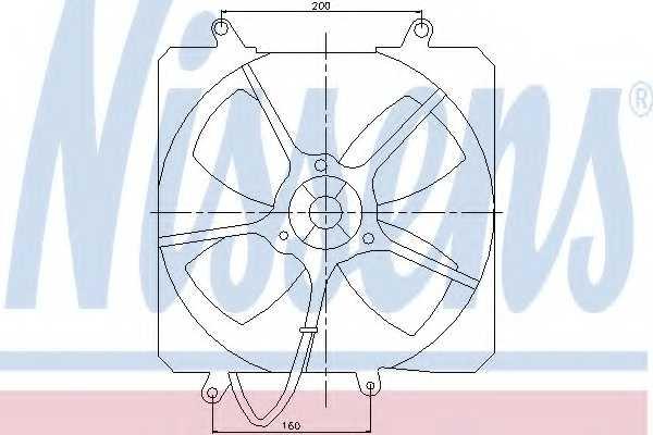 Вентилятор охлаждения двигателя NISSENS 85000 - изображение