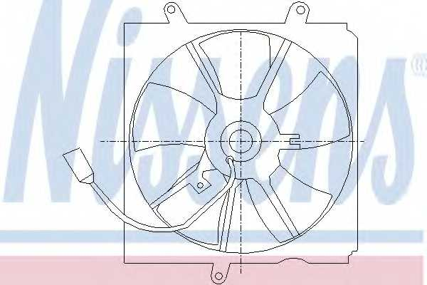 Вентилятор охлаждения двигателя NISSENS 85012 - изображение
