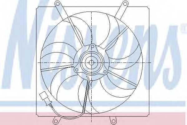 Вентилятор охлаждения двигателя NISSENS 85014 - изображение