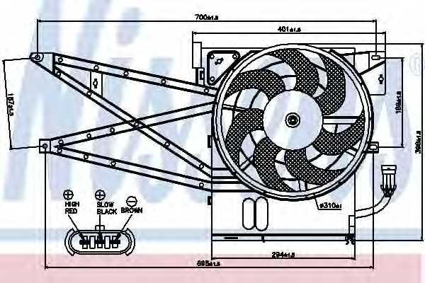 Вентилятор конденсатора кондиционера NISSENS 85017 - изображение