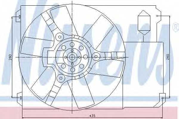 Вентилятор охлаждения двигателя NISSENS 85020 - изображение