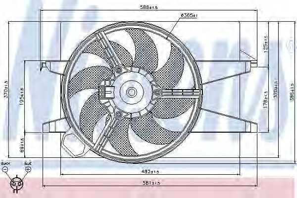Вентилятор охлаждения двигателя NISSENS 85029 - изображение