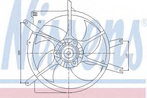 Вентилятор охлаждения двигателя NISSENS 85043 - изображение