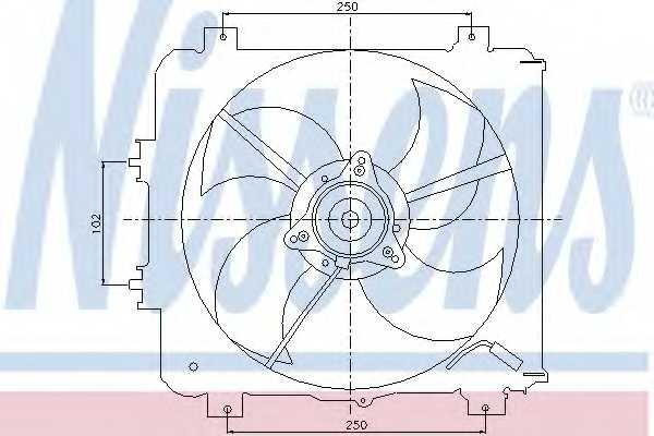 Вентилятор конденсатора кондиционера NISSENS 85045 - изображение