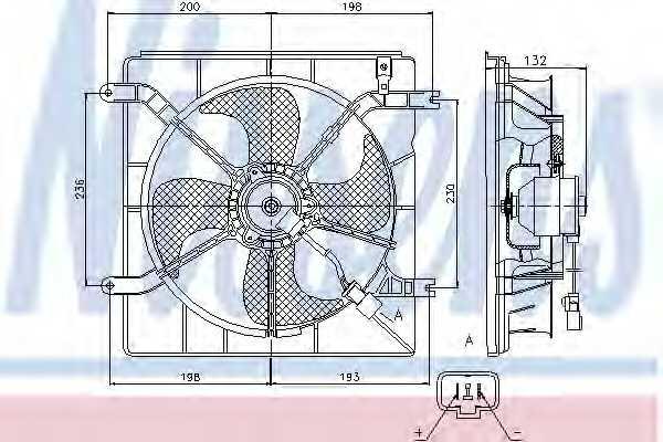 Вентилятор охлаждения двигателя NISSENS 85046 - изображение