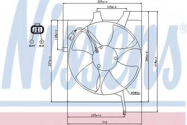 Вентилятор конденсатора кондиционера NISSENS 85047 - изображение