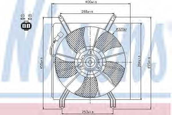 Вентилятор охлаждения двигателя NISSENS 85048 - изображение