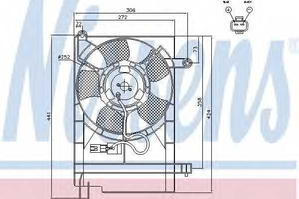 Вентилятор охлаждения двигателя NISSENS 85062 - изображение