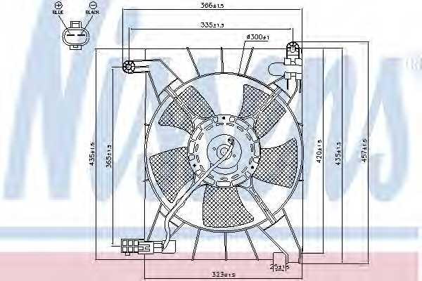 Вентилятор охлаждения двигателя NISSENS 85063 - изображение