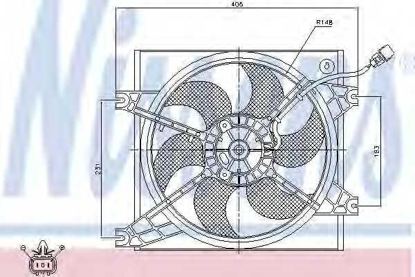 Вентилятор охлаждения двигателя NISSENS 85085 - изображение