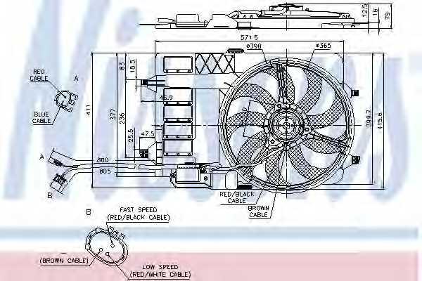 Вентилятор охлаждения двигателя NISSENS 85124 - изображение