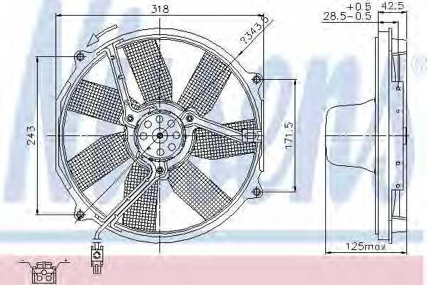 Вентилятор охлаждения двигателя NISSENS 85151 - изображение