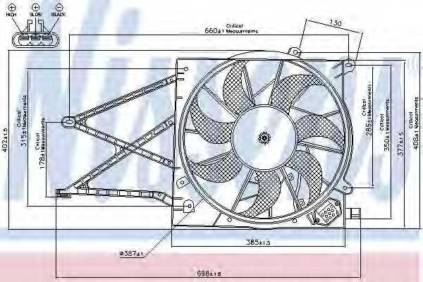 Вентилятор охлаждения двигателя NISSENS 85176 - изображение