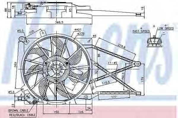 Вентилятор охлаждения двигателя NISSENS 85185 - изображение