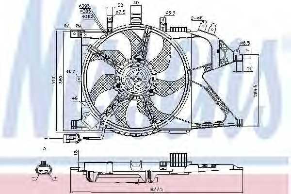 Вентилятор охлаждения двигателя NISSENS 85196 - изображение