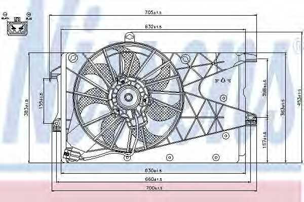 Вентилятор охлаждения двигателя NISSENS 85199 - изображение