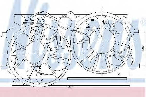 Вентилятор охлаждения двигателя NISSENS 85214 - изображение