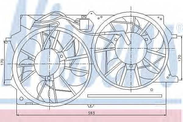 Вентилятор охлаждения двигателя NISSENS 85215 - изображение