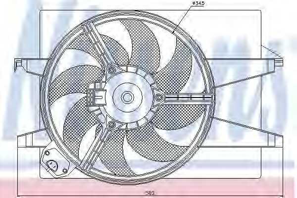 Вентилятор охлаждения двигателя NISSENS 85220 - изображение