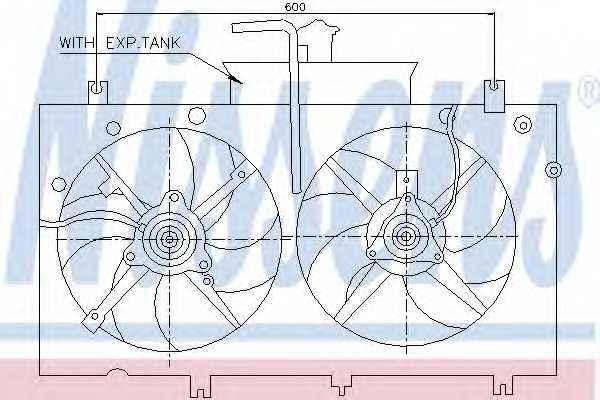 Вентилятор охлаждения двигателя NISSENS 85221 - изображение