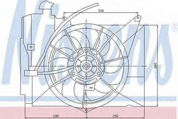Вентилятор охлаждения двигателя NISSENS 85227 - изображение