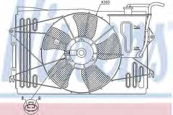 Вентилятор охлаждения двигателя NISSENS 85232 - изображение
