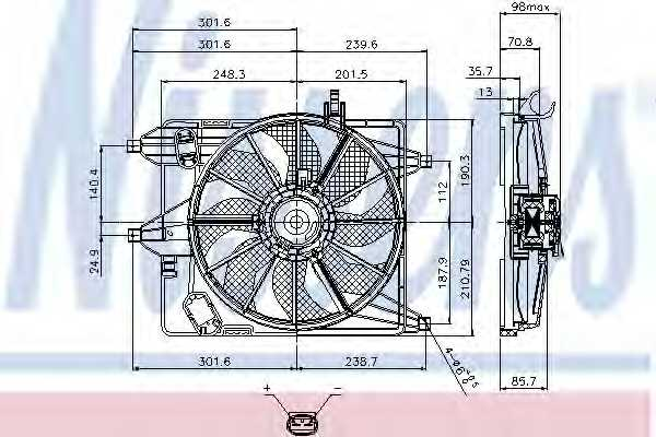 Вентилятор охлаждения двигателя NISSENS 85252 - изображение