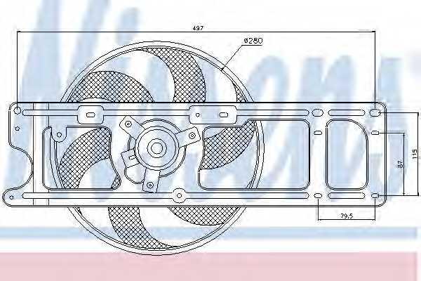 Вентилятор охлаждения двигателя NISSENS 85253 - изображение
