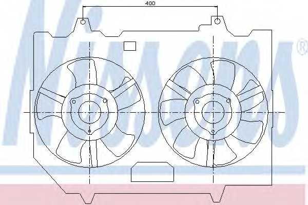 Вентилятор охлаждения двигателя NISSENS 85279 - изображение