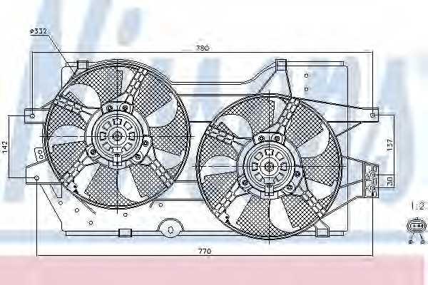 Вентилятор охлаждения двигателя NISSENS 85288 - изображение