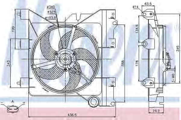 Вентилятор охлаждения двигателя NISSENS 85316 - изображение