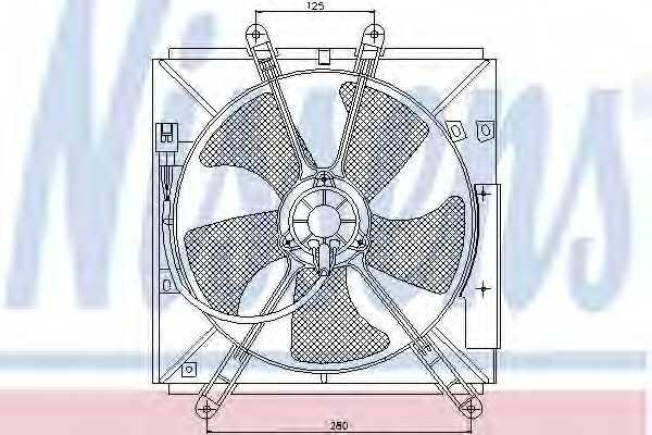 Вентилятор охлаждения двигателя NISSENS 85330 - изображение