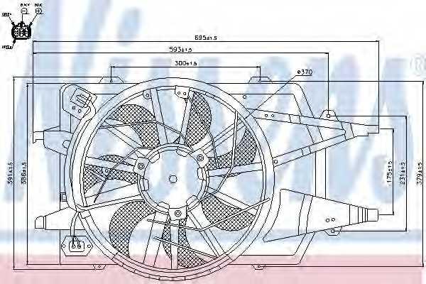 Вентилятор конденсатора кондиционера NISSENS 85342 - изображение
