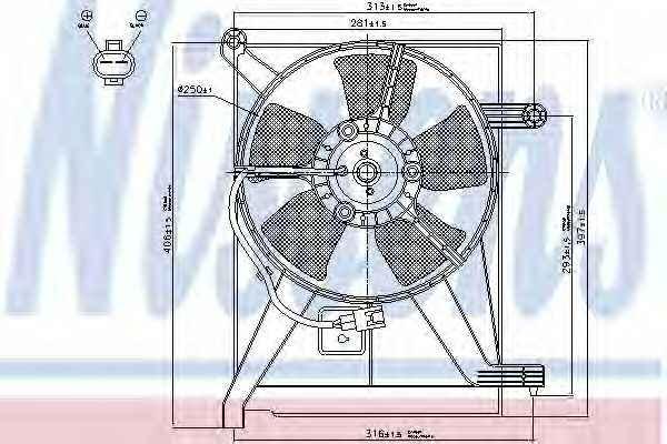 Вентилятор конденсатора кондиционера NISSENS 85351 - изображение